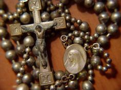 Antique Soldier's Rosary. Taking a few laps around the beads, as Dad called it. A true soldier.