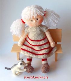 Toy knitting pattern / knitting pattern doll / by KnitAmiracle