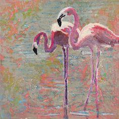 flamigo´s op het roze strandje