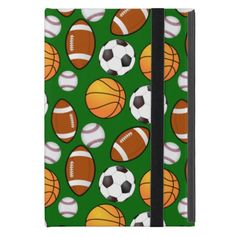 Very Cool and Special Sports Theme On turf Green iPad Mini Case