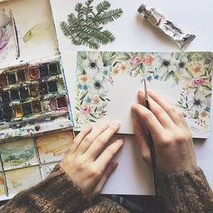 """1,113 curtidas, 75 comentários - Lucia de Marco Illustration © (@lucy_inthe_papersky) no Instagram: """"Sono in attesa che arrivi un pacco pieno di meraviglie da @fiorigami! Stiamo preparando insieme…"""""""