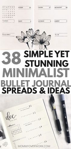 Minimalist Bullet Journal Ideas <br> There's something about simplicity that is comforting to human nature. Try these stunning MINIMALIST BULLET JOURNAL LOGS to keep your life in calm order. Bullet Journal Log, Bullet Journal Yearly Spread, Book Journal, Bullet Journal Year Goals, Bullet Journal Habit Tracker Layout, Bullet Journal Future Log Layout, Bujo, Minimalist Bullet Journal Layout, Journal Aesthetic