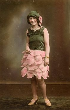 dressed like a flower..vintage photograph