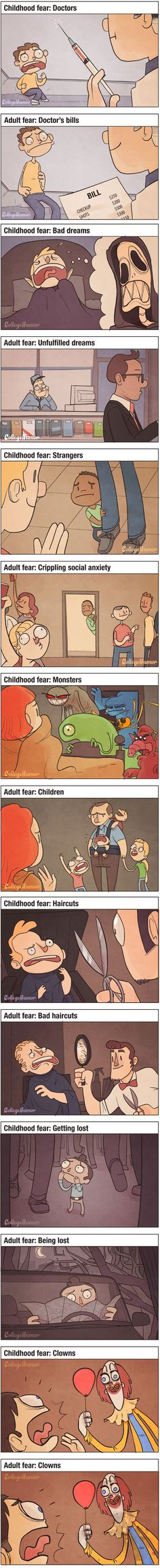 Funny pictures about Child Fears Vs. Oh, and cool pics about Child Fears Vs. Also, Child Fears Vs. Funny Cute, Really Funny, Humor Grafico, Have A Laugh, Funny Pins, Funny Stuff, Laughing So Hard, Funny Comics, I Laughed