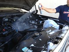 Spring Cleaning Vehicle Checklist: Wash out the engine compartment