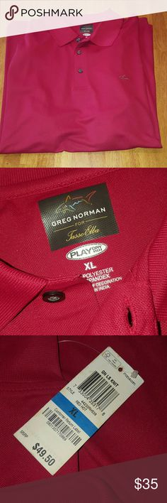 "Greg Norman Men's long sleeved golf shirt Brand new with tags. Size XL. 97% polyester 3% spandex.  Color listed as ""Red Hot"" Greg Norman  Shirts Polos"