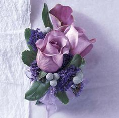purple corsages with seeded eucalyptus - Bing Images