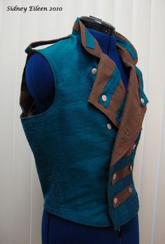 Fully reversible steampunk vest made by Sidney Eileen for Nathaniel Johnstone.