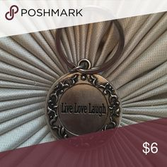 Live, Love, Laugh Keychain Live, love, laugh double sided keychain. Brand new Accessories