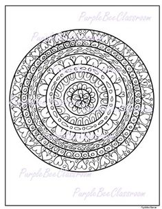 1 Printable Pdf Valentines Day Coloring Page Mandala You May Print And Distribute As Many Of
