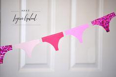 lingerie garland for bachelorette/wedding shower.