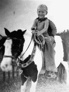 George W. Bush on Horseback, ca. 1949.