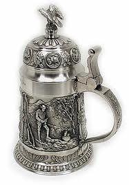 German toasting stein