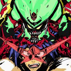 Lagann Gurren, Gurren Laggan, Fight The Power, Super Robot, Cool Artwork, Fairy Tail, Deadpool, Manga Anime, Spiderman