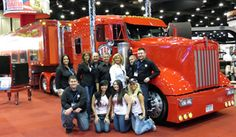 Full view of DRCool, the Detroit Radiator Corp. Show Truck. #trucks #trucking #trucktires #Continental #continentaltire