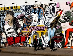 The Wall on Bowery and Houston Street: fall 2011: Faile - now that's something