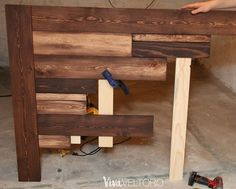 Make a Wooden Headboard for less than $50 [Step by Step Instructions]