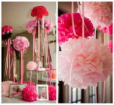 pompom's with streamers