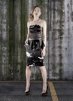 part of the collection titled CONSTRUCTION TECHNIQUES.  Detachable digitally printed dress (marble)