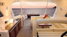 Mochi Craft Dolphin 44' Back Side Interior #theyachtownernet