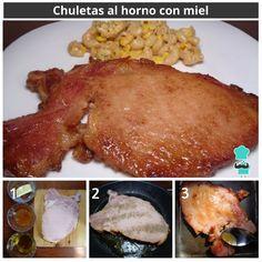 Chuletas de cerdo #RecetasGratis #RecetasFáciles #RecetasRápidas #ChuletasdeCerdo #ChuletasconMiel