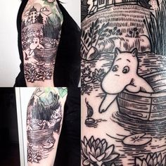 Charming, cute and endearing, moomin tattoos are certain to brighten up anyones day! Moomin Tattoo, Spaceship Tattoo, Body Modifications, Future Tattoos, Get A Tattoo, Body Mods, Beautiful Tattoos, Tattoo Inspiration, Tatoos