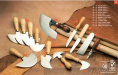 round knife and other leather knives