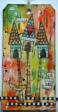 Totally my colors and love the style! This would make a good idea for an ATC (artist trading card).  LOve it!