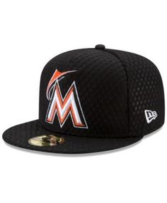 New Era Miami Marlins 2017 All Star Game Home Run Derby Patch 59FIFTY Fitted Cap - Black 7 1/8