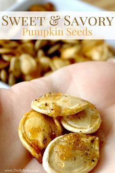Sweet and Savory Pumpkin Seeds will become a staple of your holiday season.