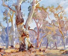 Art market auction sales from the to 2020 for works by artist Hans Heysen and values for over other Australian and New Zealand artists. Watercolor Landscape, Landscape Art, Landscape Paintings, Watercolor Art, Australian Painting, Australian Artists, Environment Concept Art, Aboriginal Art, Tree Art