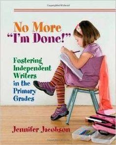 """Secondgradealicious: Book Review: No More """"I'm Done"""" #writing #process #traits"""