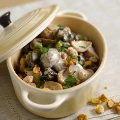 Découvrez la recette de la fricassée d'escargots aux cèpes