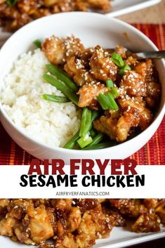 a great air fryer chicken recipe with this Air Fryer Sesame Chicken. It's t Make a great air fryer chicken recipe with this Air Fryer Sesame Chicken. -Make a great air fryer chicken recipe with this Air Fryer Sesame Chicken. Air Frier Recipes, Air Fryer Oven Recipes, Air Fryer Dinner Recipes, Air Fryer Chicken Recipes, Air Fryer Recipes Gluten Free, Chicken Flavors, Keto Chicken, Sesame Chicken Recipes, Crockpot Sesame Chicken