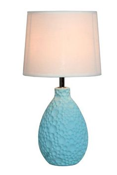 """View the All the Rages LT2003 Simple Designs 14.17"""" Height 1 Light Table Lamp with Cream Tapered Shade at LightingDirect.com."""