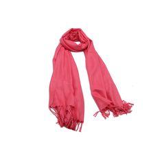 Pashimina Rosa Medio Lisa em tecido de viscose lisa na cor rosa médio. #pashmina #pashimina #modafeminina #fashion #scarf #scarfs