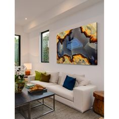 Marmont Hill 'Larimar' Painting Print on Wrapped Canvas