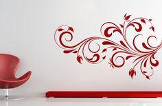 floral wall motif