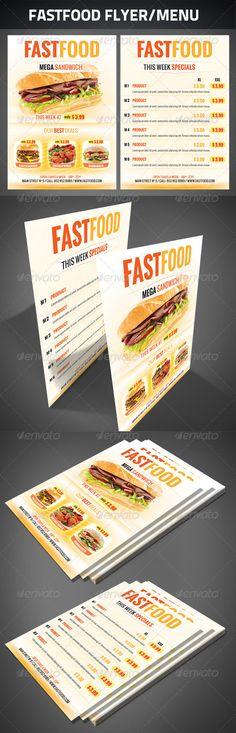 #FastFood Flyer - #Restaurant #Flyers Download here: https://graphicriver.net/item/fastfood-flyer/2631106?ref=alena994