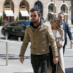 3d6ff4a1191 Jennifer Aniston and Justin Theroux In Paris Mens Fashion Blog