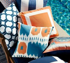 The bright colors and crisp lines of this interlocking geometric pattern are a bold take on preppy style.