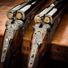 Antique shotguns. Double-barrell goodness.