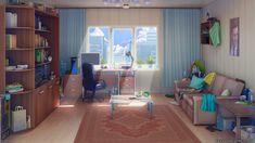 anime living 2d rooms backgrounds interior ruang tamu bildschirmhintergrund wallpaperflare 1080p desktop manga sofa artstation grafik scenery wallpapers woonkamers wallhere