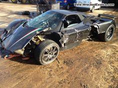 Pagani Zonda Roadster wrecked, Watford, UK