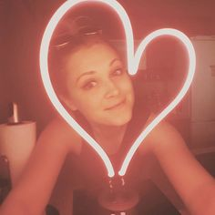 Thank you so much @neonmfg for my beautiful heart! Bringing some much needed love and light into my apartment today x by elizajaneface