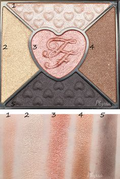 Too Faced Love Palette Quad 1 Swatches