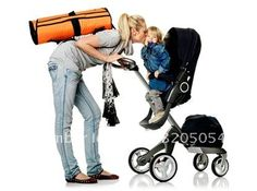 HOT!!!twin double stroller FOR SALE WITH GREEN AND ORANGE COLOR IN ...