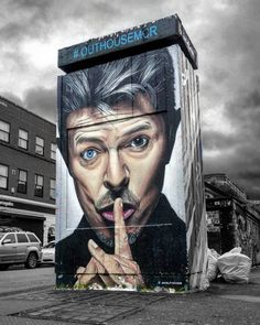David Bowie by Akse P19, photo by D7606 in Manchester for @outhousemcr.