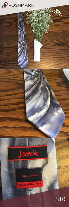 Elegant J. García Collection 54 Silk Tie 👔 Elegant gray silk tie Jerry Garcia Accessories Ties