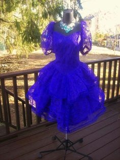 58f442d7e7 VINTAGE 80s PLUS SIZE XXL PROM PARTY DRESS LACE TIERED POUF MADONNA 2XL 3XL  AVAILABLE NOW